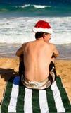 Spirito di natale Aloha sulla spiaggia Immagine Stock