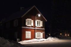 Spirito di Natale nella città della chiesa di Gammelstad Immagine Stock Libera da Diritti
