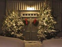 Spirito di Natale nella città della chiesa di Gammelstad Fotografia Stock Libera da Diritti