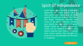 Spirito di progettazione concettuale di indipendenza Fotografie Stock Libere da Diritti