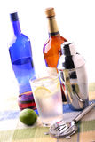 Spirits. Mixed drinks on a place mat Royalty Free Stock Photos