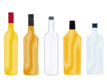 Spirits Bottles Pencil Style Royalty Free Stock Images