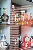 Spirits shelves Royalty Free Stock Images