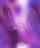 Spiritual Angel and metal effect. Painting and graphic effect. Stock Images