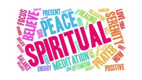 Spiritual Animated Word Cloud. On a white background stock video footage