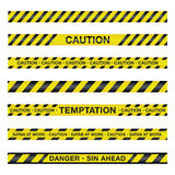 Spiritual Caution Tape Illustration. An illustration of police tape with a spiritual theme. Vector EPS 10 available Royalty Free Stock Photo