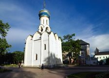 Spiritual Church of the Holy Trinity Lavra of St. Sergius. royalty free stock image