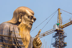 The spiritual creator of Daoism Laozi under construction Stock Images