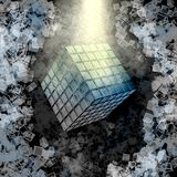 Spiritual Cube Stock Photo