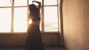 Spiritual dance passionate woman sun lights window