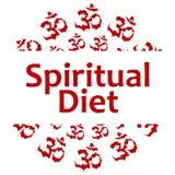 Spiritual Diet Red Aum Circular Stock Photo