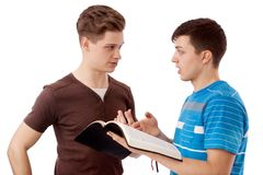 Spiritual discussion Royalty Free Stock Photo