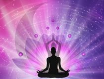 Free Spiritual Energy Power, Lotus, Yin Yang Symbol, Balance , Universe Royalty Free Stock Image - 165026026