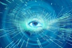 Spiritual Eye. An abstract spiritual background showing a spiritual eye radiating sparks Stock Photos