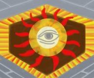Illuminati,,. Artwork of an eye that wand off evil spirits Royalty Free Stock Photography