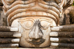 Spiritual face sculpture Royalty Free Stock Photo