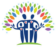 Spiritual Family Tree Logo Royalty Free Stock Photo