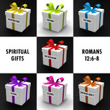 Spiritual Gifts. Gifts representing the gifts of the Holy Spirit Stock Photos