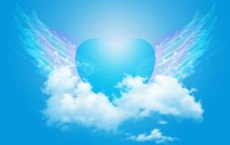 Free Spiritual Guidance, Angel Of Light And Love Doing A Miracle On Sky, Rainbow Angelic Wings Royalty Free Stock Photo - 174018685
