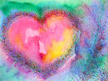 Free Spiritual Heart Mind Power Mental Floral Watercolor Painting Illustration Design Stock Images - 151265154