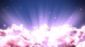 Spiritual heaven. Worship and Prayer based cinematic clouds and light rays background loop in 4K HD resolution. Useful for divine, spiritual, fantasy concepts vector illustration