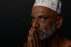 Spiritual Indian man Stock Photography