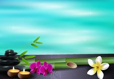 Spiritual landscape water background Royalty Free Stock Images