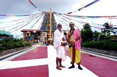 The spiritual leaders of  Sri Siva Subramaniya Hindu temple Nadi Stock Photo