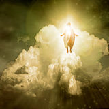 Spiritual Light. Figure stands atop cloud bathed in Spiritual Light
