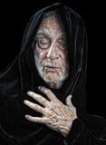 Spiritual man. Beautiful Image Of an elderly spiritual man on Black Royalty Free Stock Photo