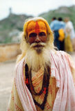 Spiritual man in india stock image