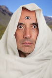 Spiritual man with a third eye Stock Photo