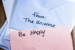 Spiritual message in the mail Stock Images