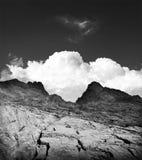 Spiritual mountains clouds nature Stock Images