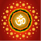 Spiritual Om Background. Spiritual Om On Lotus Exploding Background Stock Images
