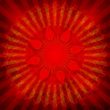 Spiritual Om On Mandala. Background Royalty Free Stock Photo
