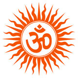 Spiritual Om Sign Stock Images