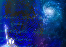 Spiritual Passion Abstract. In blue sky vector illustration