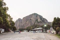 Spiritual peaks(Lingfeng) parking lot at night Stock Photo