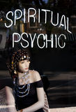 Spiritual Psychic. Display advertising Psychic services at a popular commercial street in South Florida Stock Photos