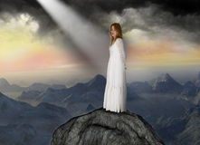 Spiritual Rebirth, Hope, Love, Peace Stock Photos