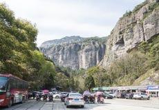Spiritual Rocks(Lingyan) scenery area parking lot Royalty Free Stock Photography