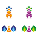 Spiritual. A set of spiritual icons Stock Photography