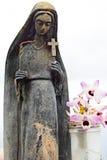 Spiritual statue at Porto Moniz lookout Royalty Free Stock Image