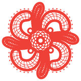 Spiritual swirl cross Stock Image