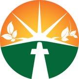 Spiritual Symbol. A spiritual Christian Sunset Symbol Royalty Free Stock Photography