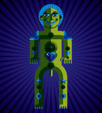 Spiritual totem vector illustration, meditation theme drawing. Royalty Free Stock Image