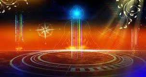 Spiritual virtuale dell'insieme illustrazione di stock