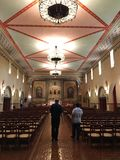 A Spiritual walk in a church Stock Images