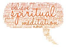Spiritual Word Cloud Stock Photography